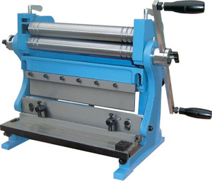 Shear brake and roll machine
