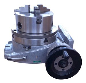 "The Adapter and 3 Jaw Chuck Mounting on a 8"" Rotary Table"
