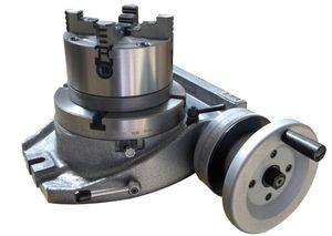 "The Adapter and 4 Jaw Chuck for Mounting on a 10"" Rotary Table"